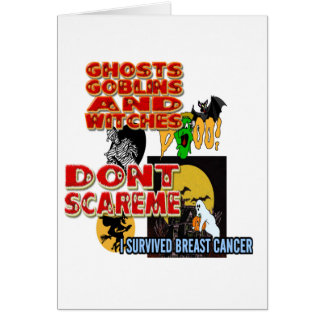 HALLOWEEN BREAST CANCER CARD