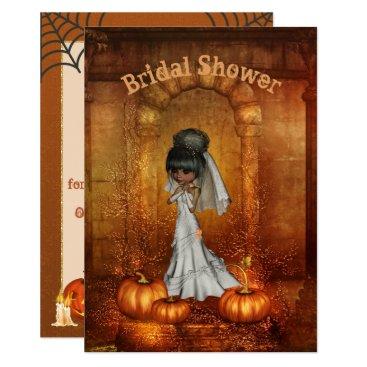 Halloween Themed Halloween Bridal Shower Invitation