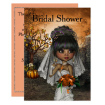Halloween Bridal Shower Invitation