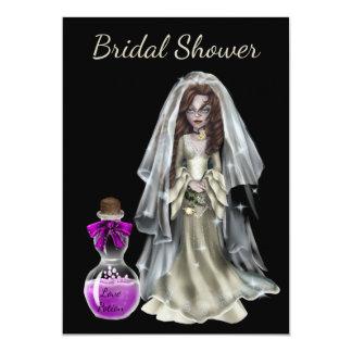 Halloween Bridal Shower Invitation Love Potion