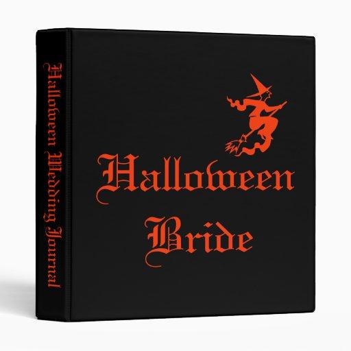 Halloween Bride Wedding Journal Binder