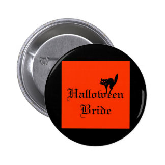 Halloween Bride with black cat Pins