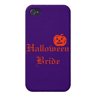 Halloween Bride with Pumpkin iPhone 4 Covers
