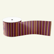 Halloween bright stripes ribbon