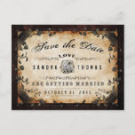 🎃  Halloween Brown Gothic LOVE Save Date PostCard