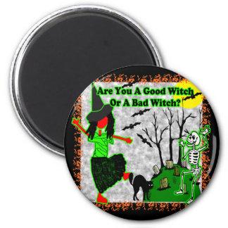 ¿Halloween - buena bruja? Imán Redondo 5 Cm
