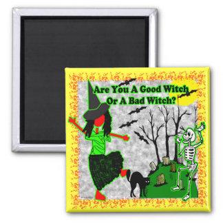 ¿Halloween - buena bruja? Imán Cuadrado