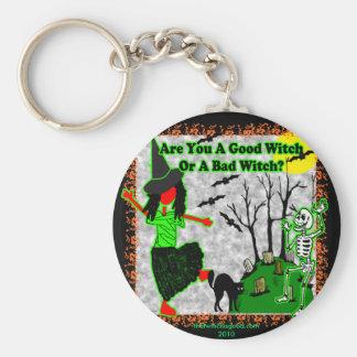 ¿Halloween - buena bruja? Llavero Redondo Tipo Pin