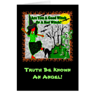¿Halloween - buena bruja? Tarjeta De Felicitación