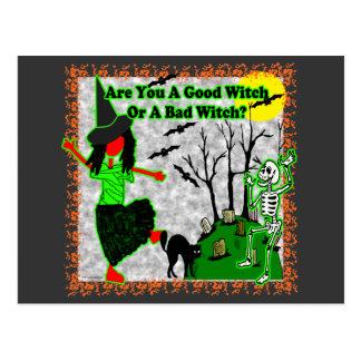 ¿Halloween - buena bruja? Tarjetas Postales