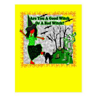 ¿Halloween - buena bruja? Tarjeta Postal