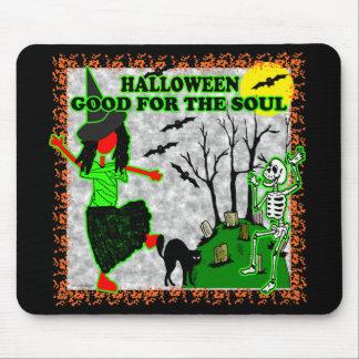 Halloween bueno para el alma alfombrilla de raton