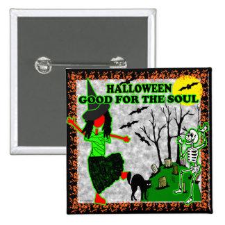 Halloween bueno para el alma pin