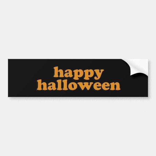 halloween bumper sticker