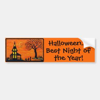 Halloween ,bumper, sticker,owl,fairy,devil,ghost car bumper sticker