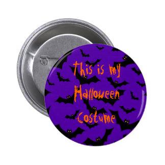 Halloween Button - Bats Costume