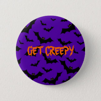Halloween Button - Bats Get Creepy