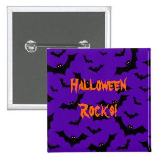 Halloween Button - Bats Halloween Rocks