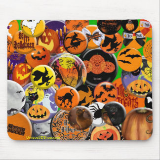 Halloween Buttons Mousepad