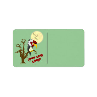 Halloween Buzzard Gift Label