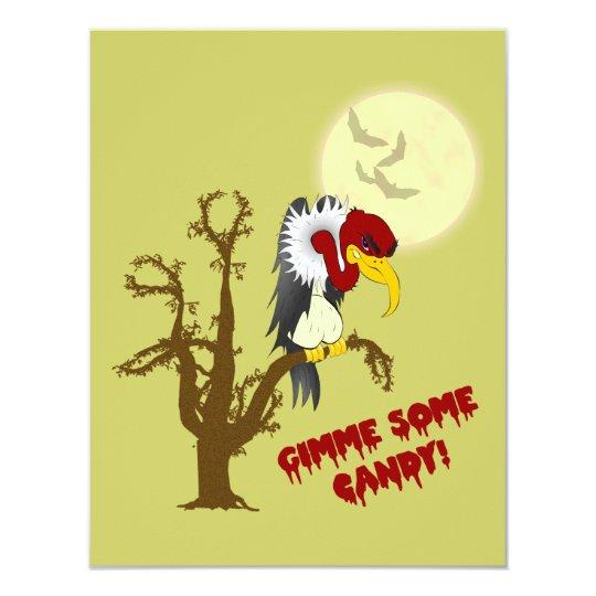 Halloween Buzzard Invitation