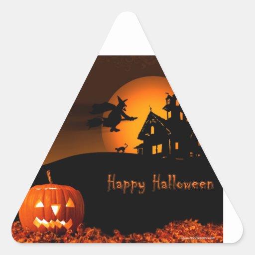 Halloween Calcomanía De Trianguladas