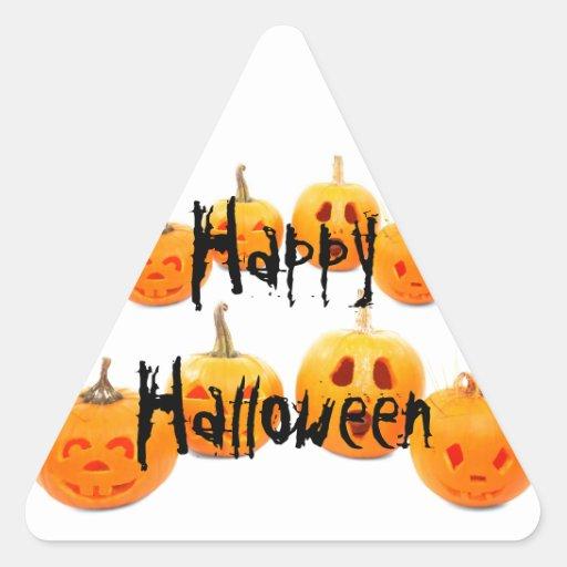 Halloween Calcomanía Triangulo Personalizadas