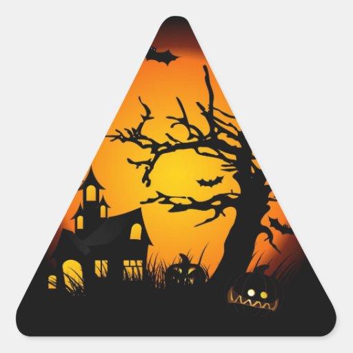 Halloween Calcomanías Triangulos