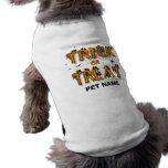 Halloween - camisa del perro del truco o de la playera sin mangas para perro