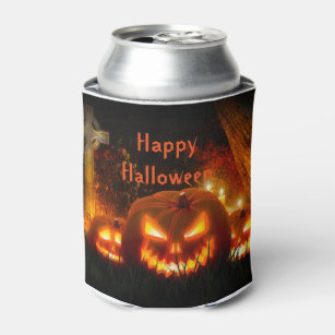 halloween can coolerjack o lanterns can cooler