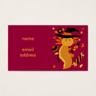 Halloween Candy Axolotl Business Card