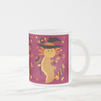 Halloween Candy Axolotl Frosted Glass Coffee Mug