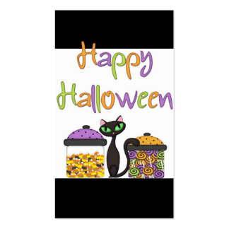 Halloween Candy Black Cat Business Cards
