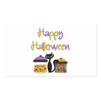 Halloween Candy Black Cat Business Card Template