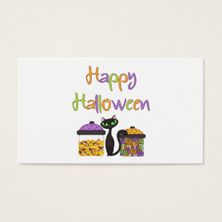 Halloween Candy Black Cat Business Card