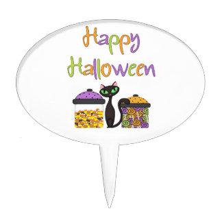 Halloween Candy Black Cat Cake Picks