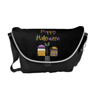 Halloween Candy Black Cat Courier Bag