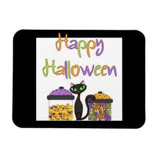 Halloween Candy Black Cat Magnet