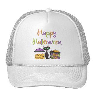 Halloween Candy Black Cat Mesh Hat