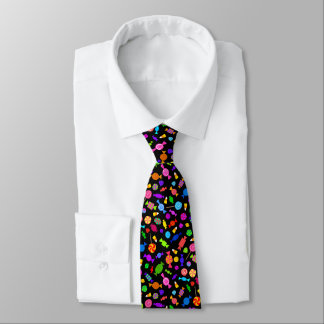 Halloween candy black pattern tie