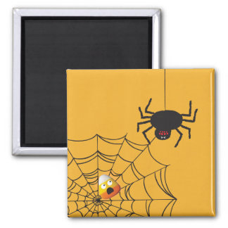 Halloween Candy Corn 2 Inch Square Magnet