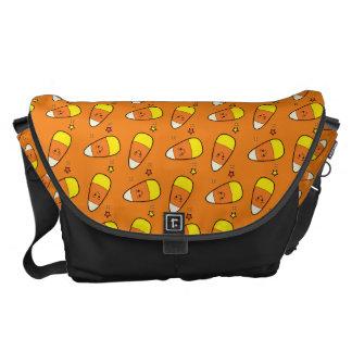 Halloween Candy Corn and Stars Messenger Bag