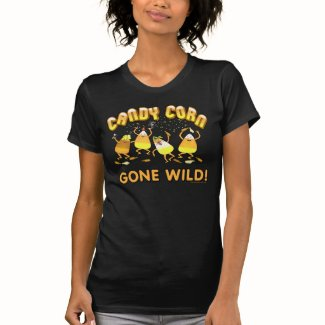 Halloween Candy Corn Black T-Shirt.