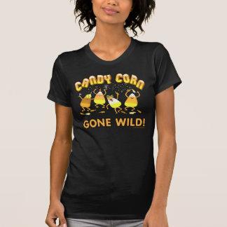 Halloween Candy Corn Black T-Shirt