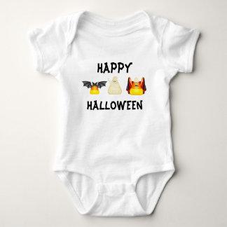 Halloween Candy Corn Characters Bat Dracula Mummy Baby Bodysuit