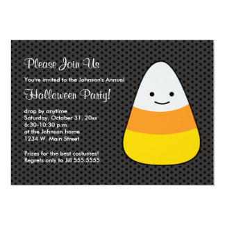 Halloween Candy Corn Costume Party Invitations