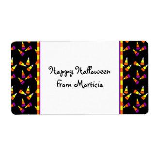 Halloween Candy Corn Custom Labels