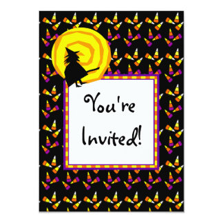 Halloween Candy Corn Custom Party Invitations