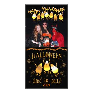 Halloween Candy Corn Custom Photo Card