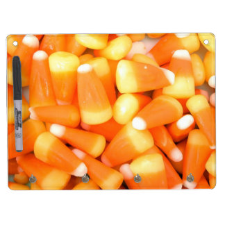 Halloween Candy Corn Dry Erase Board With Keychain Holder
